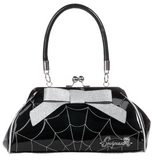 Spiderweb Floozy Purse Black/Silver