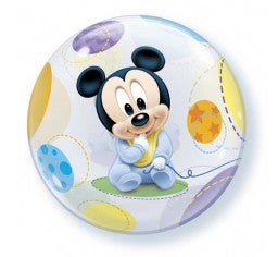Baby Mickey bubble and 9 helium balloon  bouquet