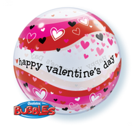 Valentine Bubble and 9 Latex Helium Balloon bouquet  arrangement