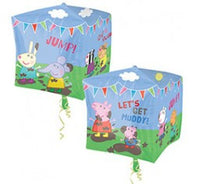 Peppa Pig CUBEZ  Shape  and 9 Balloon bouquet