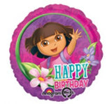 Dora foil and 9 helium balloon  bouquet