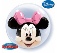 Minnie double bubble balloon and 9 helium balloon bouquet
