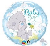 Baby Boy foil balloon and 9 helium balloon  bouquet