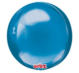 Orbz Blue with 9 latex helium balloon bouquet