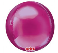 Orbz Pink with 9 latex helium balloon bouquet