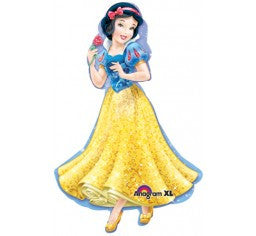 Snow White Foil Shape  and 9 Balloon bouquet