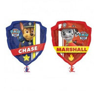 Paw Patrol foil shape and 9 helium balloon bouquet