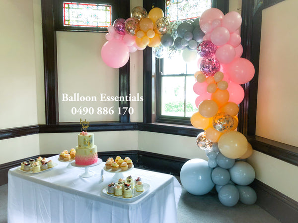 "Organic Balloons Arch ""Baby Shower"""