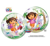 Dora bubble and 9 helium balloon  bouquet