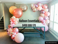 Organic  Balloons Arch - Eden 1st Birthday Party@Narumburn