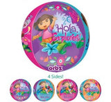 Dora Orbz Foil and 9  Helium balloon Bouquet