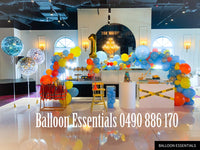 Organic  Balloons Arch - ConstructionTheme 1st Birthday Party@Bankstown
