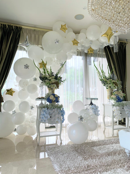 Baby Shower Organic Style Balloon Garland