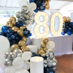80th Birthday Party Organic Style Balloon Garland