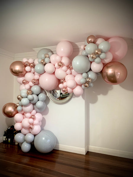 Sarah's 18th Birthday Party Organic Style Balloon Garland