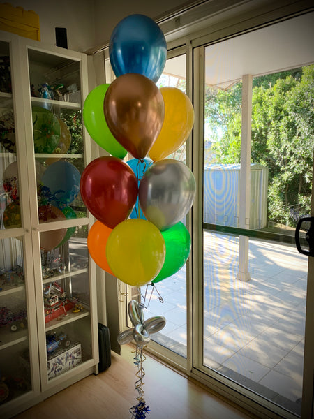 4 x 10 Balloon Birthday Party Floor Bouquets