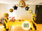 9th Birthday Party Emoji  Arch