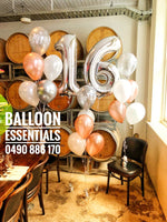 16th Birthday  Helium Balloon arrangement