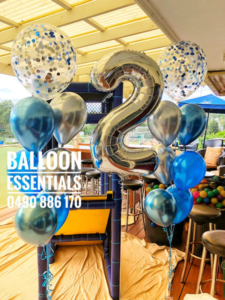 2nd Birthday  Helium Balloon arrangement