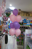 Minnie Baby bubble and 9 helium balloon bouquet