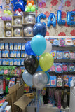 Batman bubble and 9 helium balloon  bouquet