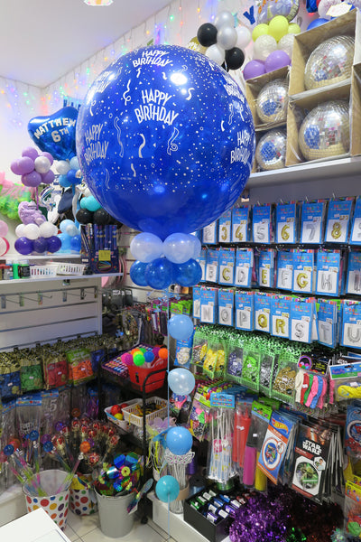 3ft Round Jumbo Birthday balloon arrangement