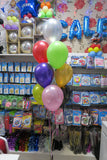 Birthday Musical Bubble and 9 helium balloon bouquet