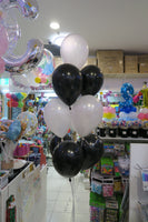 Dog foil shape and 9 helium bouquet