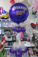 50th birthday table arrangement