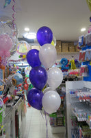 Baby Shower foil balloon and 9 helium balloon  bouquet