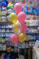50th Bubble and 9 helium Balloon Bouquet