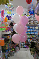 Pig head Foil Shape  and 9 Balloon bouquet