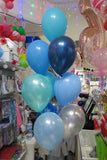 Dinosaurs foil shape and 9 helium balloon bouquet
