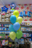 2 x 4th birthday foil and 9 helium Balloon Bouquet