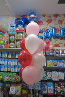 Peppa Pig foil Shape  and 9 Balloon bouquet