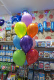 Avenger bubble and 9  helium balloon bouquet