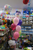 40th Bubble Balloon  helium Bouquet
