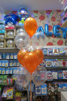 Starwars BB-8 Foil Shape  and 9 Helium balloon Bouquet