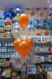 Dora Foil Shape and 9 helium  Balloon bouquet