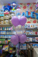 Christening Communion Confirmation double deco and 9  helium balloon bouquet