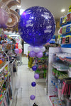 2 x 3Ft round giant happy birthday  ballon