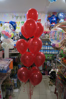 Spiderman Foil  and 9 helium balloon Bouquet