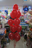 Spiderman Foil Shape and 9 Balloon bouquet