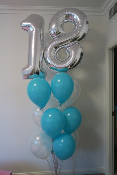 18th Birthday balloon bouquet
