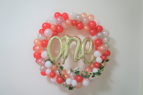 O N E  birthday balloon hoop