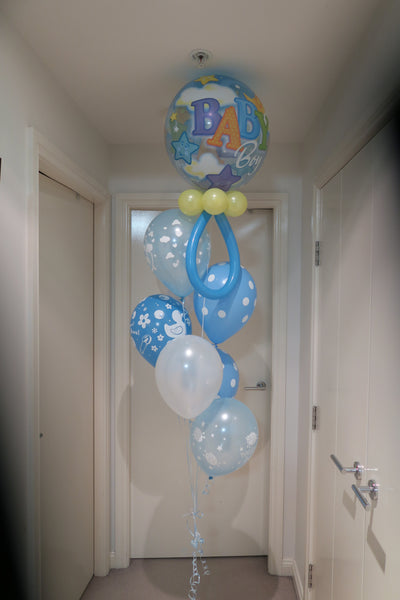 Baby shower helium balloon arrangement