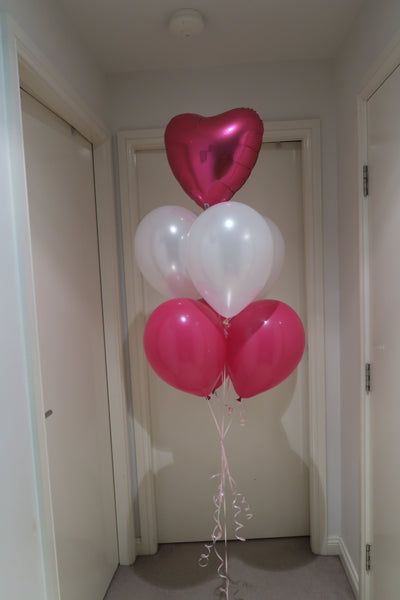 Engagement foil balloon bouquet