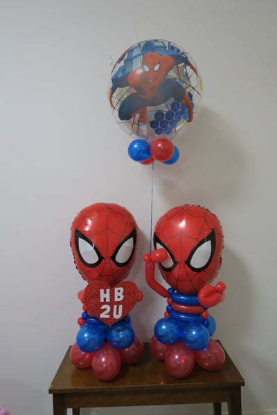 Spiderman helium balloon  sculpture