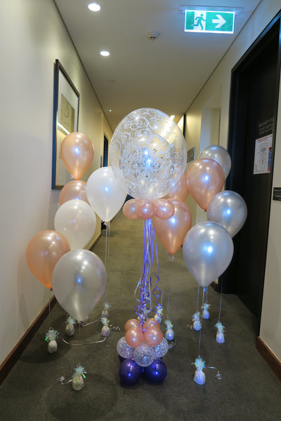 Rosegold Birthday Balloon bouquet