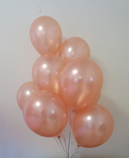Rosegold helium balloon table bouquet